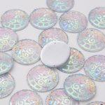 Taidian AB resin sew on resin flatback Cabochon For <b>native</b> <b>american</b> DIY <b>Jewelry</b> 35MM 10pieces