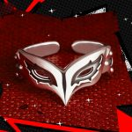 4 Types Persona 5 P5 JOKER Mask Ring 925 Sterling Silver Adjustable Fox Skull Panther Anne Mask Cosplay <b>Jewelry</b> Gift Adjustable
