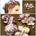 Dower me <b>Handmade</b> Lilac Flower Bridal Hair Comb Clip Set Pearl <b>Jewelry</b> Wedding Accessories Headpiece