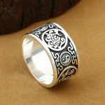 Handmade 925 Silver Dragon Tiger Ring The Chinese Four Mythic Animal Ring Real Silver Good Luck Ring Fengshui Lucky <b>Jewelry</b>