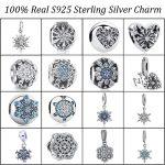 Genuine 925 Sterling Silver Beads Charm Snowflake Clip Pendant Charm Fit Original Pandora Charm Bracelet Silver <b>Jewelry</b> <b>Making</b>