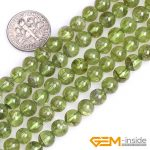 7mm 8mm Round Green Natural Peridot Quartzs Stone Semi Precious Beads DIY Loose Beads For <b>Jewelry</b> <b>Making</b> Strand 15″Wholesale