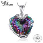 Huge 31.76ct Mystic Rainbow Topaz Women <b>Necklaces</b> Heart Shape Design Solid 925 Sterling <b>Silver</b> <b>Necklaces</b> for Engagement Lovers