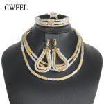 CWEEL <b>Jewelry</b> Sets Fashion African Beads <b>Jewelry</b> Set For Women Wedding Turkish Ethiopia Dubai Indian <b>Necklace</b> Bridal <b>Jewelry</b> Set