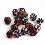 New Arrival 60PCs 16*19MM Multicolor Felt Fabric Balls Beaded Charms Fit Girls Fashion Earring Making Ornament <b>Accessories</b> Charm