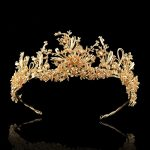 Golden Bough Vintage Hoop Bridal Hairband Headdress Married Crown Tiara Golden <b>Wedding</b> Hair Accessories Bride Headpiece <b>Jewelry</b>