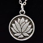 MCSAYS Viking <b>Jewelry</b> Lotus Round Pendant <b>Antique</b> Silver-Color Pure Viking Necklace Fashion Chocker Necklace Amulet Gifts 4SL