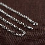 FNJ 100% 925 Silver Link Chain for Women Men Accessorice S925 Thai 3MM Solid Silver <b>Jewelry</b> <b>Making</b> Necklaces