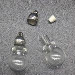 100pcs 23x11mm wholesale bamboo joint ball glass vial pendant charms glass bottle perfume oil locket diy <b>jewelry</b> findings <b>supply</b>