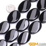 Oval Black Agat Twist Shape Natural Stone Beads DIY Loose Beads For <b>Jewelry</b> Making Strand 15 Inches Wholesale !