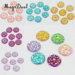 MagiDeal Novelty 50Pcs12mm Resin Round Dotted Cabochon Flatback Embellishments DIY Craft for <b>Jewellery</b> Making Scrapbooking <b>Decor</b>