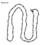 KELITCH <b>Jewelry</b> Natural Beads Maxi Style Popular <b>Handmade</b> Beaded Necklace Strand Chain Summer Necklaces Top Packs Gifts Free