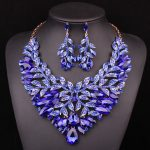 Fashion Jewellery Dubai Crystal <b>Necklace</b> Earrings Bridal <b>Jewelry</b> Sets For Brides Party Wedding Accessories Decoration LF00182