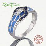 Silver Snake Ring for Women Blue Stone Blue <b>HANDMADE</b> Enamel Rings Pure 925 Sterling Silver Fashion <b>Jewelry</b>