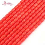 8×10,7x10mm Smooth Column Orange Coral Beads Natural Stone Beads For DIY Necklace Bracelets <b>Jewelry</b> <b>Making</b> 15″ Free Shipping