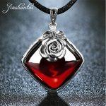 JIASHUNTAI 100% 925 Sterling <b>Silver</b> <b>Necklace</b> Pendant For Women Retro Natural Precious Stones Vintage Thai <b>Silver</b> Pendant Jewelry