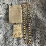 Yoowei Adult Amber Necklace 45cm–100cm Authenticity <b>Handmade</b> Knot Multi Genuine Baltic Natural Amber Sweater Chain Long <b>Jewelry</b>