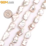 """Gem-inside Natural White Pink Butterfly Animal Shape Nuclear Edison Pearls Beads for <b>Jewelry</b> <b>Making</b> 15"""" DIY <b>Jewelry</b>"""