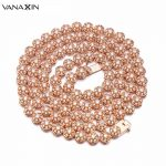 VANAXIN Women Belly Chain Rose/Gold/<b>Silver</b>/Purple/Red CZ Color Light Yellow AAA Cubic Zirconia Hip Hop <b>Necklaces</b> Men Charms 32""
