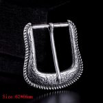 Rodeo Western Texas Cowboy Buckle 37MM <b>Antique</b> Silver Leather Belt Pin Buckle