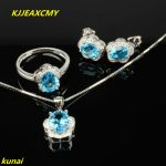 KJJEAXCMY boutique jewels 925 sterling <b>silver</b> inlaid with natural topper stone pendant ring <b>earrings</b> 3 pieces of jewelry jewelry
