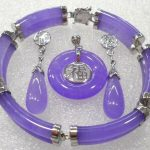 Women's Wedding purple gem bless bracelet earring pendant/ring set>AAA wide watch silver <b>jewelry</b> real silver <b>jewelry</b>