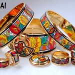 014 Cloisonne enamel jewelry European and American style 4pcs sets