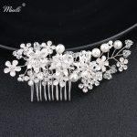 Miallo Rhinestone Pearls Women Hair Combs Silver Color Metal Alloy Flower Garden Hairpins Clips Wedding Hair <b>Jewelry</b> Accessories
