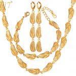 U7 Dubai Gold Color <b>Jewelry</b> Sets For Women Sandal Shapes Earrings Bracelet <b>Necklace</b> Set African <b>Jewelry</b> S659