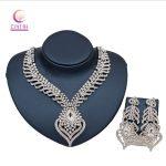 2017 African Nigerian Wedding Bridal Dubai full crystal <b>silver</b> plated Jewelry Sets African Beads Jewelry Set Wholesale