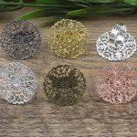 100pcs 31mm Round Pad ring blank Cameo Tray,Bronze/Gold/Silver Ring setting,<b>Handmade</b> DIY Zakka <b>jewelry</b> Finding