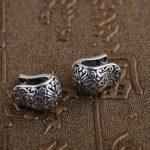 925 Silver Hoop Earrings for Women <b>Jewelry</b> 100% S925 Sterling Silver boucle d'oreille Cross Earring christmas