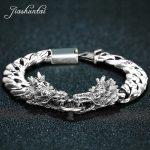 JIASHUNTAI Retro 100% 925 Sterling <b>Silver</b> Dragon <b>Bracelets</b> For Cool Men Vintage <b>Silver</b> Jewelry