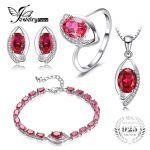 Jewelrypalace Eye Created Ruby Ring Stud <b>Earring</b> Bracelete Pendant Necklace 925 Sterling <b>Silver</b> Jewelry Sets Fine Jewelry