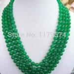 beautiful 8mm Green Chalcedony Necklace Women wholesale high quality new fashion all-match Fashion <b>Jewelry</b> <b>Making</b> Design 100inch