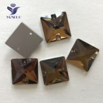YANRUO #3240 All Sizes Smoked Topaz Square Flatback Rhinestone Sew On Strass Sewing Stones Crystal For <b>Jewelry</b> <b>Making</b>