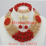 African <b>Wedding</b> Coral Beads <b>Jewelry</b> Set African Beads <b>Jewelry</b> Sets Nigerian <b>Wedding</b> <b>Jewelry</b> Free Shipping BC302-8