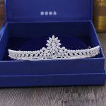 Full Zircon Leaf Tiara Copper Zircon Tiaras Micro Pave CZ Bride Crown <b>Wedding</b> Hair <b>Jewelry</b> Diadem Mariage Bijoux Coroa WIGO1041