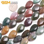 Gem-inside Natural Flat Drop Teardrop Indian Agates Stone Beads For <b>Jewelry</b> <b>Making</b> 13X18mm 15inches DIY Jewellery