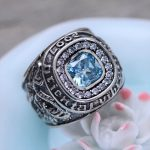 MetJakt S925 <b>Sterling</b> <b>Silver</b> Blue Topaz Ring & Hand Carved Dragon and Tiger Rings for Men Vintage Thai <b>Silver</b> Fine <b>Jewelry</b>