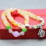 Fashion Ladies 8mm Dual Color Beads Bracelet Crystal Thailand Amulet Silver Pendant Natural Stone Ornament <b>Jewelry</b> <b>Making</b> Design
