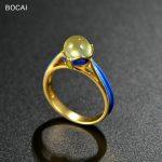 925 silver DIY Sukhothai silver <b>jewelry</b> <b>handmade</b> cloisonne enamel craft stone ring wholesale grape