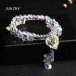 SINZRY <b>jewelry</b> NEW <b>handmade</b> Charm Bracelets Luxury imported glass crystal DIY Heart strand bracelets statement <b>jewelry</b>