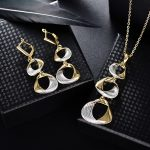 Viennois New Gold & Silver Color <b>Jewelry</b> Sets for Women <b>Fashion</b> Mixed Color Twisted Circles Necklace Earrings Set Party <b>Jewelry</b>