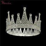 Elegant Shining <b>Wedding</b> Tiara Crown Full Circle Round Crowns Diadem Popular Bride Hair <b>Jewelry</b> RE3047