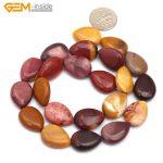 "Gem-inside 13x18mm/18x25mm Natural Stone Beads Drop Mookaite Beads Red Botswana Agates Beads For <b>Jewelry</b> <b>Making</b> 15"" DIY Beads"