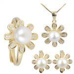 Fashion girls jewelry set necklace <b>earrings</b> rings pearl set