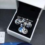 4pcs <b>Jewelry</b> Set S925 Sterling Silver Moon Stars Blue Enamel Charms Beads Fit DIY Bracelet Necklaces <b>Jewelry</b> <b>Making</b> Woman Gift