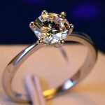 Wholesale Fashion <b>Jewelry</b> Solitaire 1Ct Claw 925 <b>sterling</b> <b>silver</b> white AAA CZ stones Finger Wedding Band Ring Gift Size 4-10