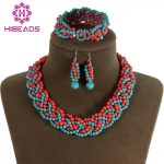 New&Fashion!Handmade Knitted Stone&Coral Set Marvelous <b>Native</b> <b>American</b> <b>Jewelry</b> Set Vintage African <b>Jewelry</b> Set TN052